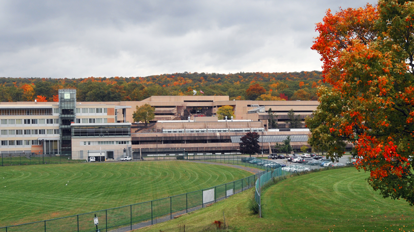The HCC campus in fall