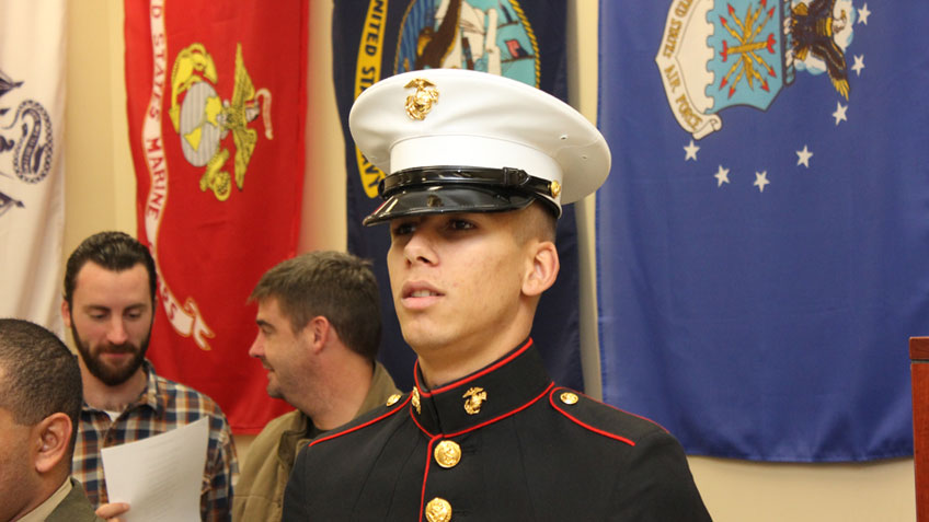A student Marine at HCC
