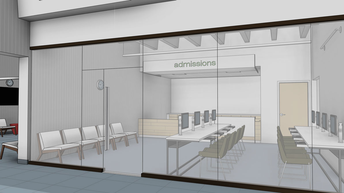 Admissions Office, Architectu0027s Rendering