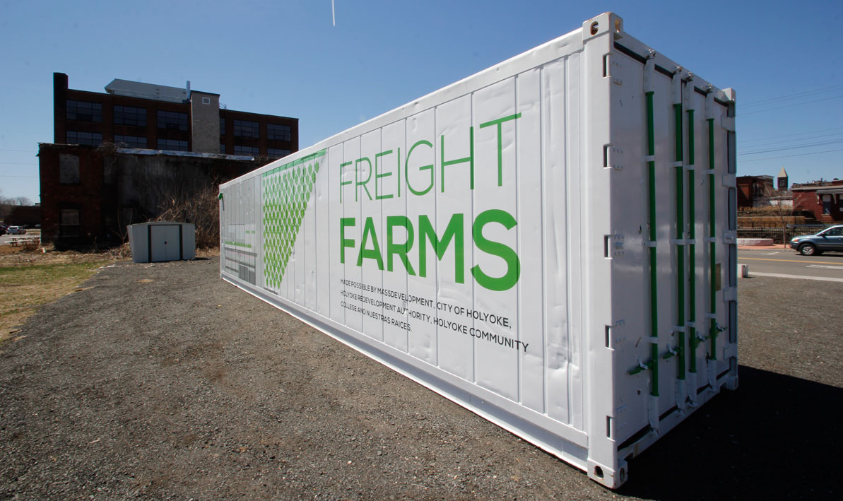 The Freight Farms shipping container farm