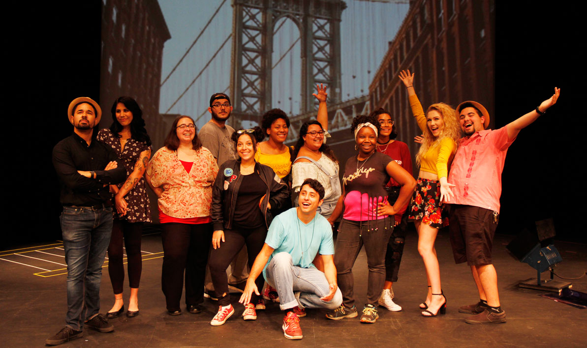 "The cast of HCC's production of ""In the Heights"""