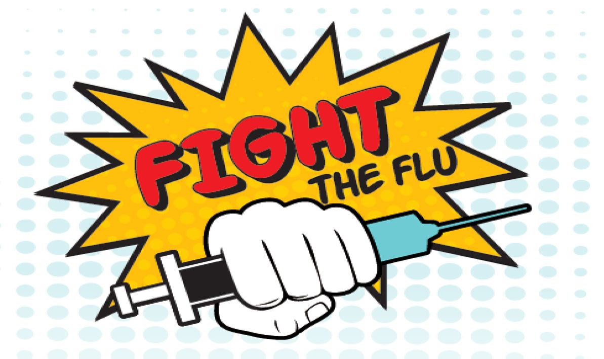 Fight the Flu clinic graphic
