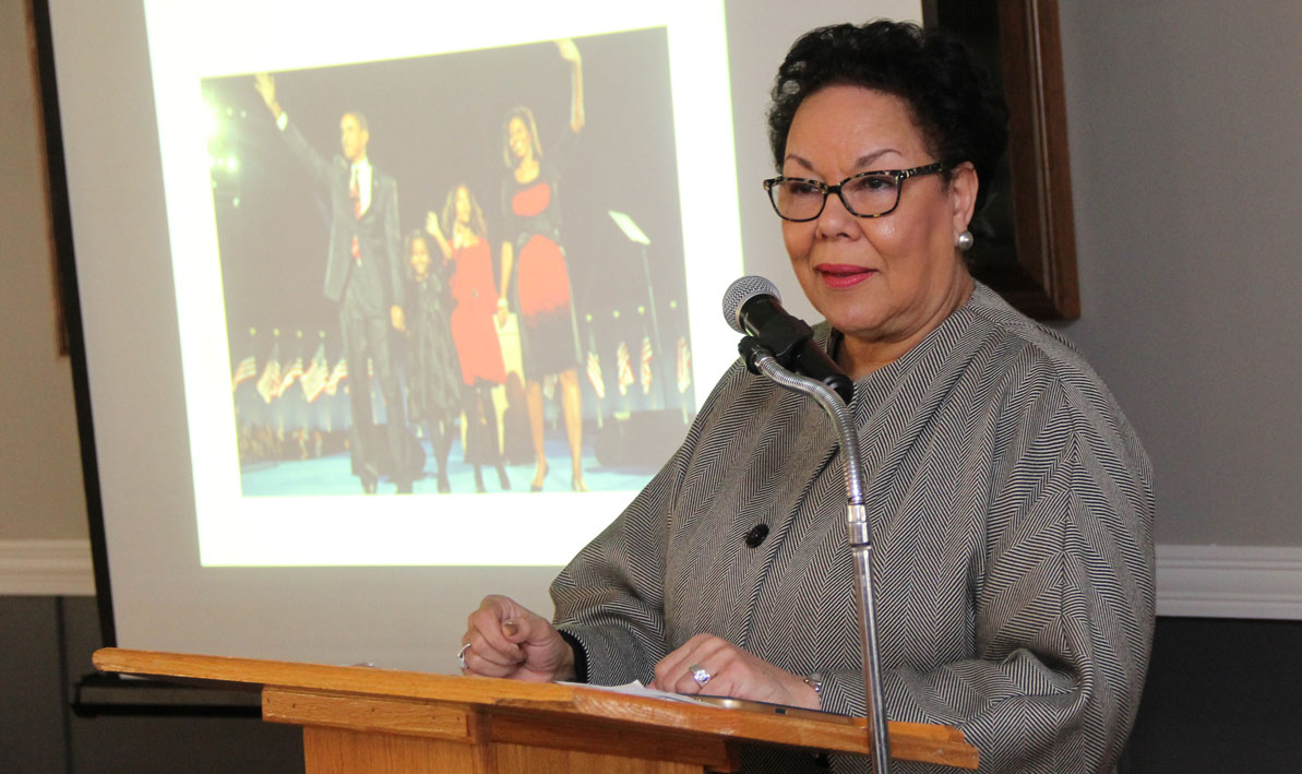 Idelia Smith gives a talk about the legacy of Martin Luther King Jr.