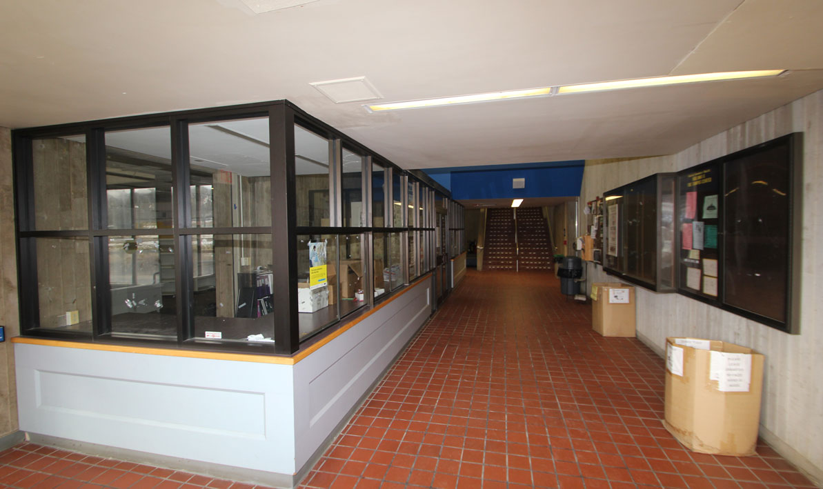 Campus Center Lobby and old bookstore entrance