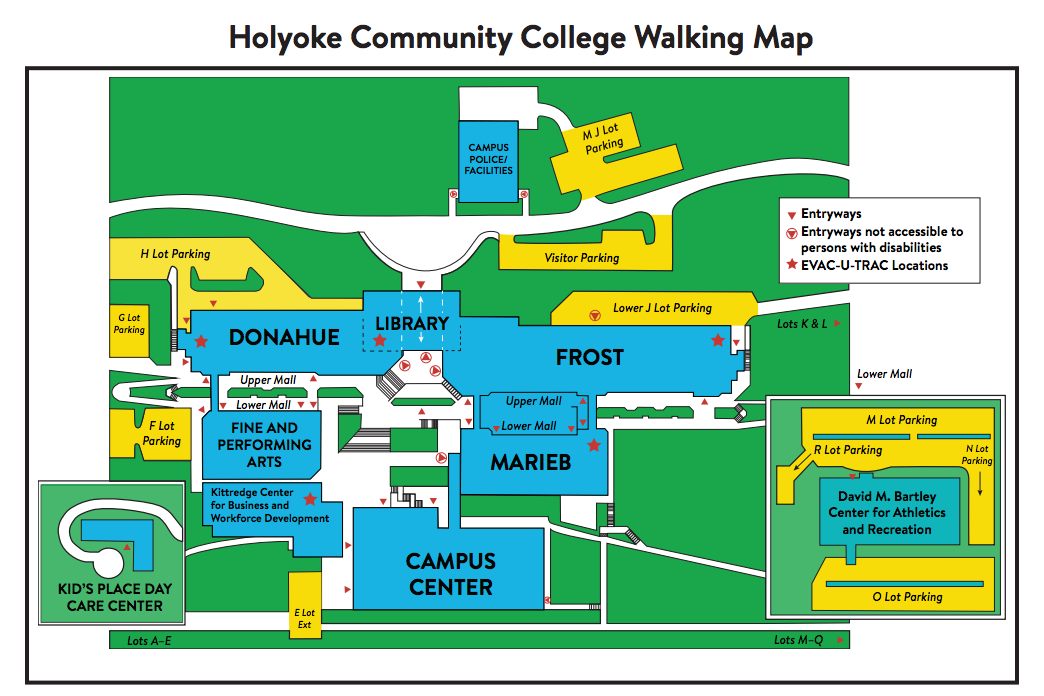Campus Map | Holyoke Community College | Holyoke Community College