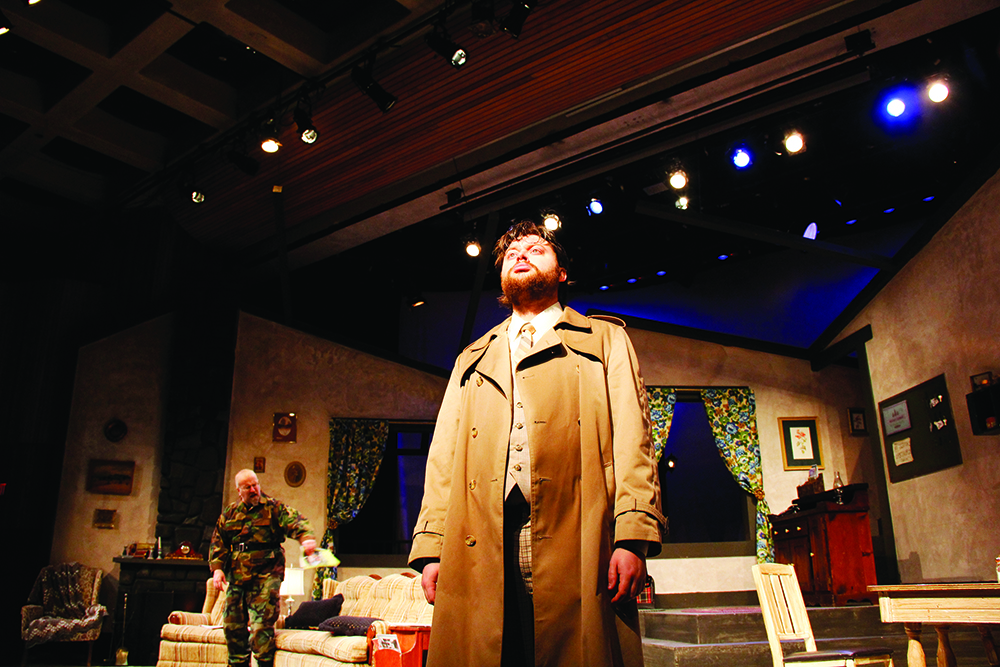 A student on stage during an HCC mainstage production
