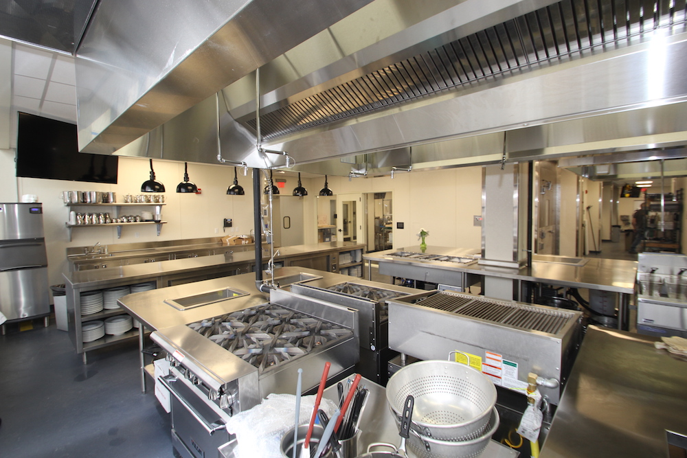 The kitchen at the Culinary Arts Institute