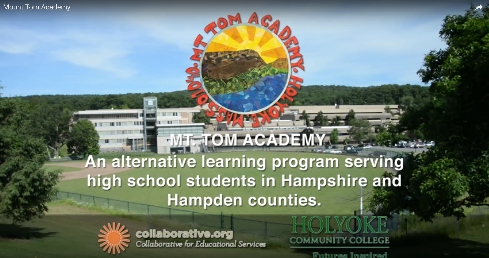 Screenshot from Mount Tom Academy video