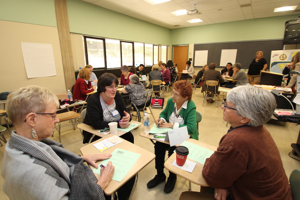 HCC community members meet and discuss ideas during Future Summit breakout sessions.