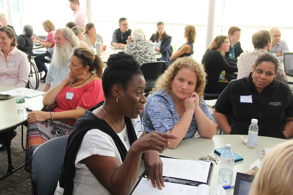 Members of the HCC community engage in discussions during strategic planning workshops