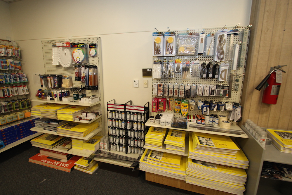 Art supplies in the HCC college store